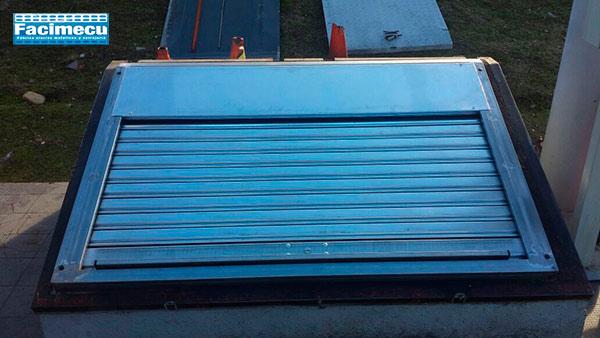 Cierre FC 85 ciego galvanizado para arquetones de repostaje gasolineras Galp