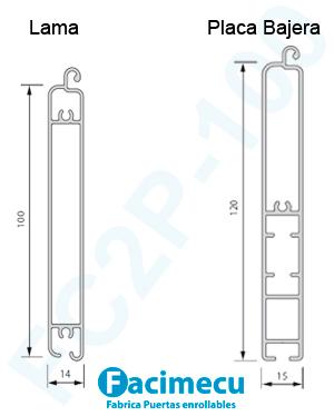 Perfil Puerta de aluminio extrusionado FC2P-80