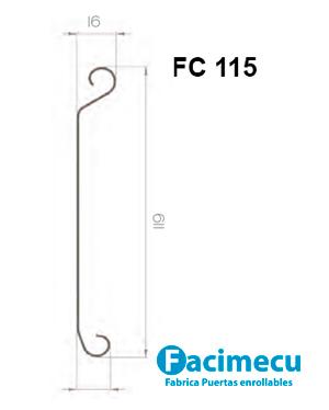 Perfiles cierres metalicos lama FC-115