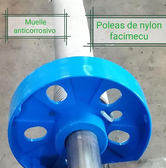 Nueva polea de nylon y muelle anticorrosivo