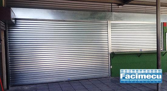 Cierres enrollables FC 85 instalados en Alcorcon