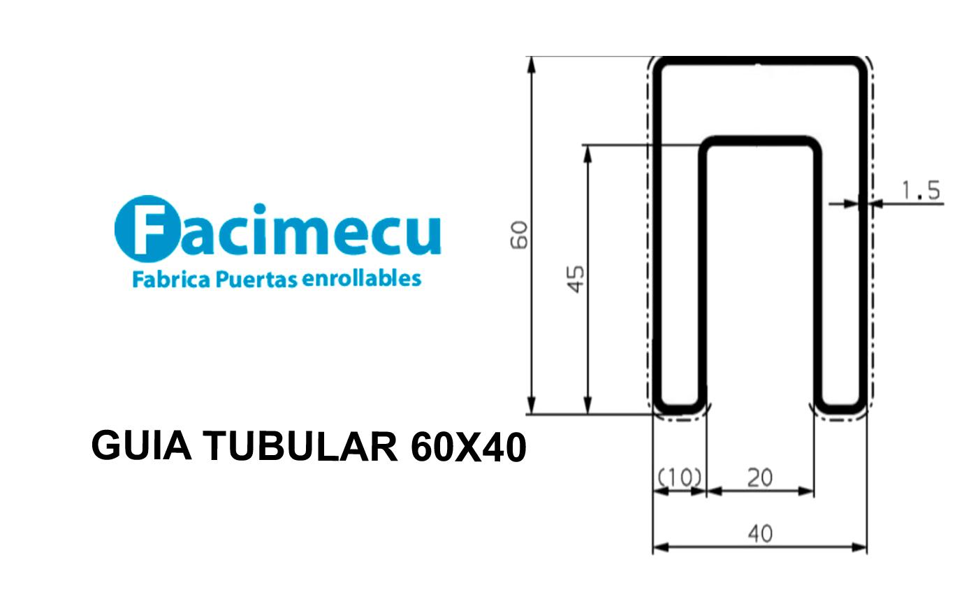 Nueva Guía tubular 60 X 40