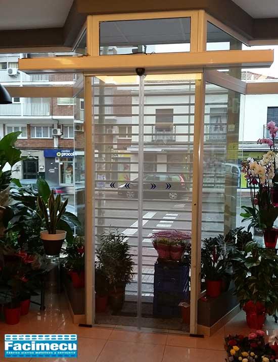 Puerta automática de cristal sin perfileria