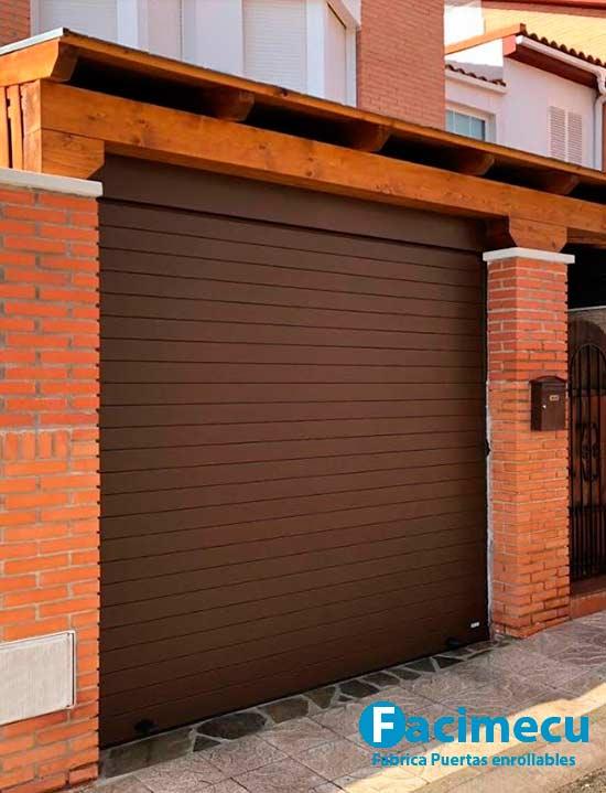Puerta enrallable aluminio extrusiónado modelo FC2P-100