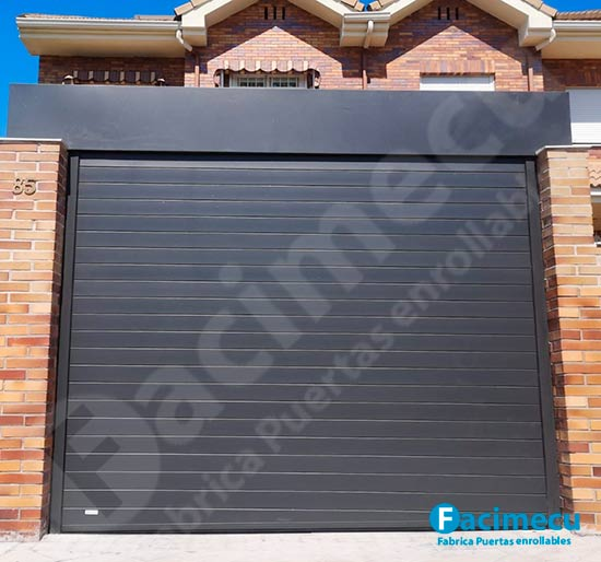 Puerta enrollable aluminio extrusionado lama doble pared fc2p-100