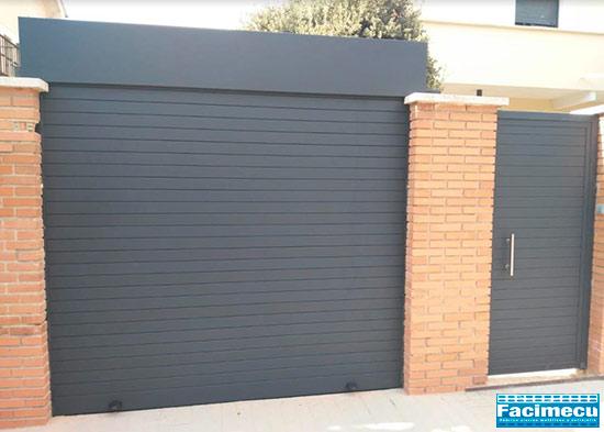 Puerta enrollable de aluminio extrusionado lama FC2P 80