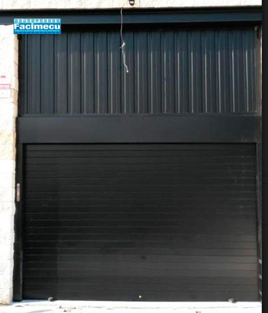 Puerta enrollable de aluminio extrusiónado lama FC1P-100