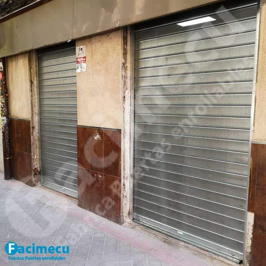 Puerta enrollable chapa galvanizada lama FC115
