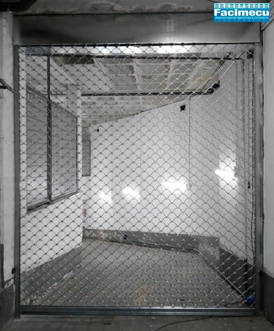 Puerta enrollable para comercio tipo concha varilla 8mm