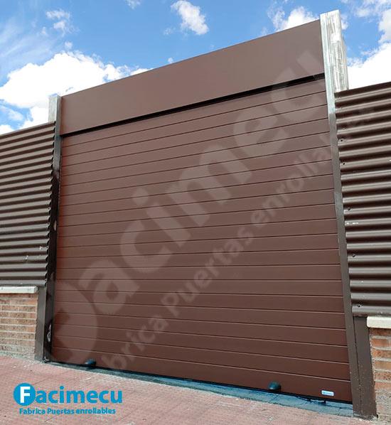 Puerta de garaje aluminio extrusionado doble pared lama FC 2p-100