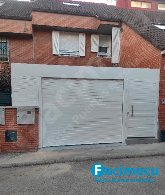 Puerta enrollable aluminio extrusionado para garaje