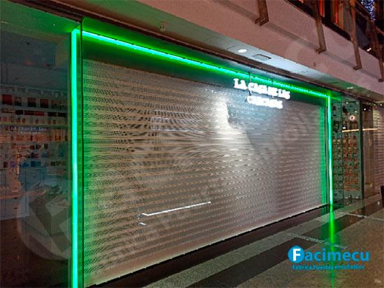 Puerta enrollable automática, aluminio extrusionado lama FC1p-100