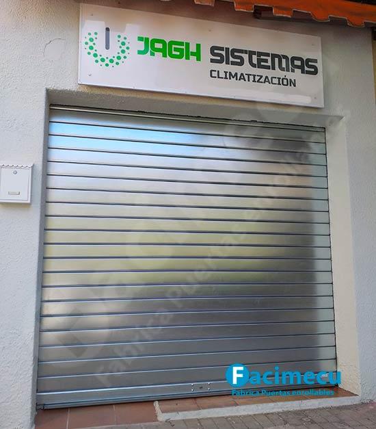 Puerta enrollable chapa galvanizada lama FC 115