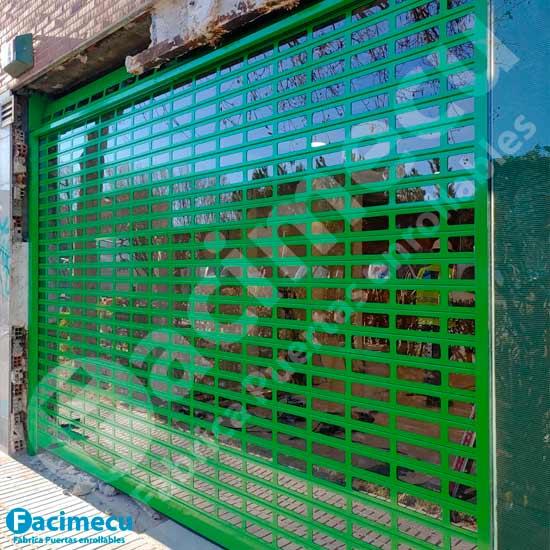 Puerta enrollable automatizada lama aluminio extrusionado FC1P-100