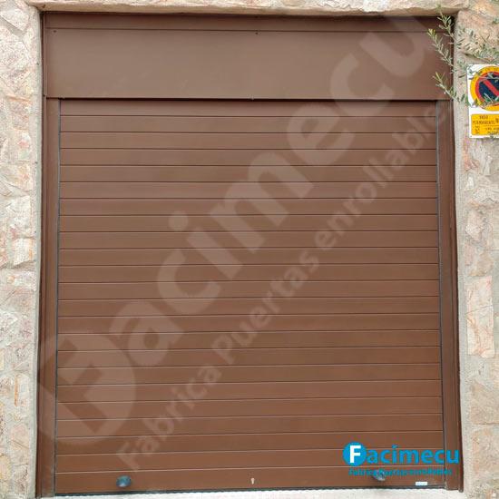 Puerta enrollable para garaje aluminio extrusionado lama FC2P-100