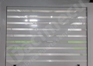 Puerta enrollable aluminio extrusionado mixta