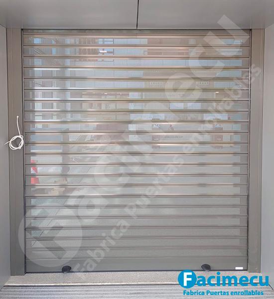 Puerta enrollable aluminio microperforada lama FC1P-100