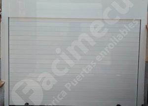 Puerta enrollable aluminio para garaje