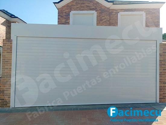 Puerta enrollable para garaje, lama aluminio extrusionado FC2P-100